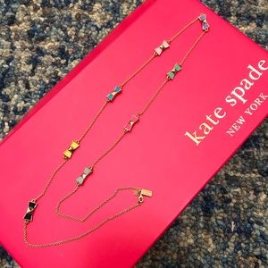 Kate spade bow long chain necklace